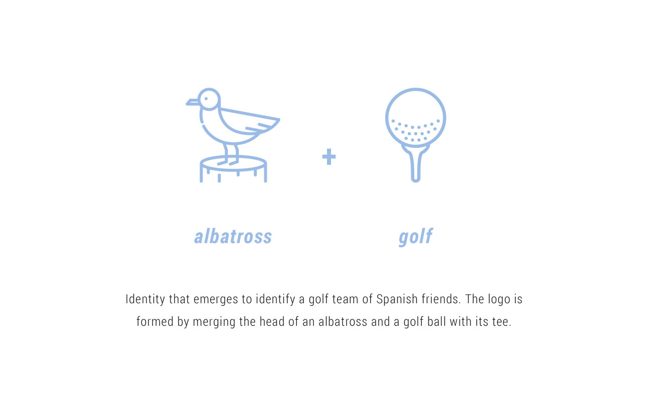 albatross and golf branding