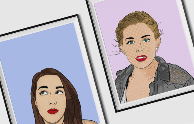 popart portrair illustrations